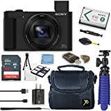 Sony Cyber-shot DSC-HX80 18.2MP 30x Optical Zoom Digital Camera Bundle + 32GB Sandisk Memory + Deluxe Camera Case + Spider Tripod + Premium Accessories Bundle