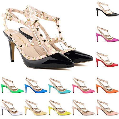 Loslandifen Ladies High Heels Party Wedding Count Pump Shoes