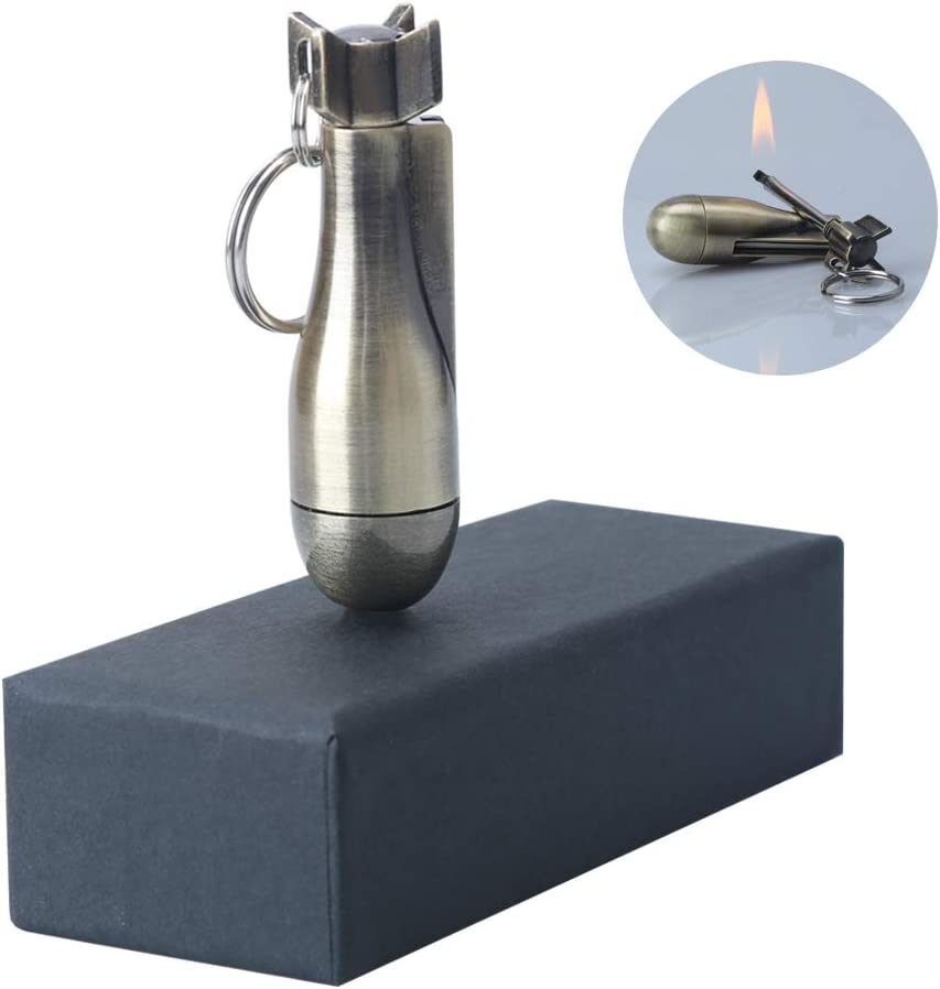 Fire Starter Flint Match Lighter Keychain Camping Emergency Gear Survival