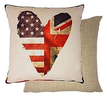 2X Relleno Boda Real Corazón Union Jack Stars & Stripes ...