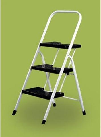 Vervi - Escalera 3 peldaños con barandilla: Amazon.es: Bricolaje y herramientas