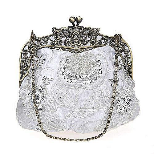 Perles Evening Mariée Argent Clutch Pour Vintage Main Discothèque À couleur Femme La Robe De Mariage Champagne Bag Sac Yyzcl Dîner qXdAq