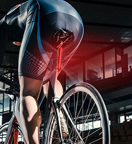 Aduro Sport LED Rear Bike Light USB Rechargeable - Ultra Bright Powerful Safety Taillight, 6 Light Mode Options, One Touch Mount and Dismount, IPX4 Waterproof, for All Bikes by Aduro (Image #1)