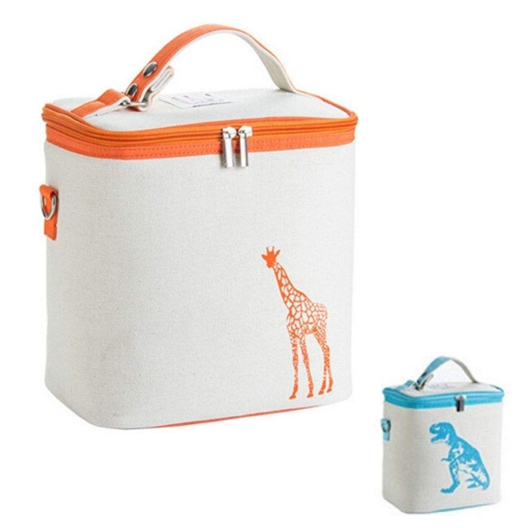 Large Baby Bottle Kids Lunch Bag (9'' x 6'' x 9'') (Girafe) by Wellen, Sold by Cottonseed, Inc.