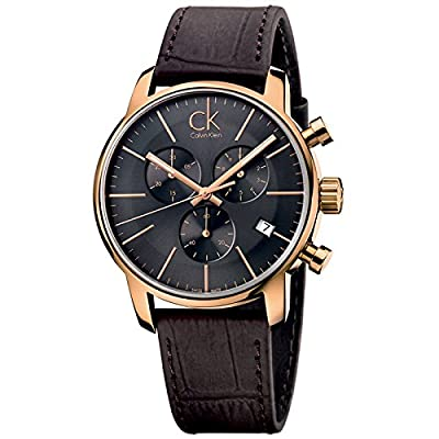 Calvin Klein K2G276G3 City Grey Brown Chronograph Watch