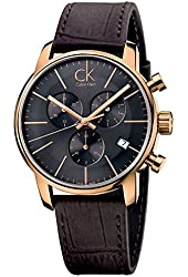 Calvin Klein K2G276G3 City Grey Brown Chronograph Watch