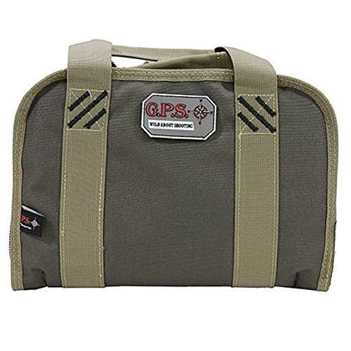 G.P.S. Double Compact Pistol Case, Rifle Green/Khaki, One Size by G.P.S. (Image #1)