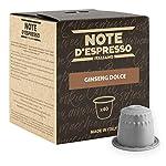 Note D'Espresso Ginseng Preparato Solubile in Capsule per Bevanda al Gusto di Ginseng - 430 g (100 x 4.3 g)