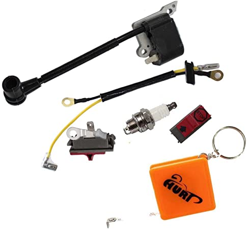 Huri Carburettor Ignition Coil Air Filter for Husqvarna 36 41 136 137 141 142 Chainsaws