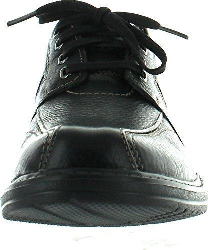 Bostonian Mens Koade Key Lace Up Casual Oxfords Schoenen Black Nubuck