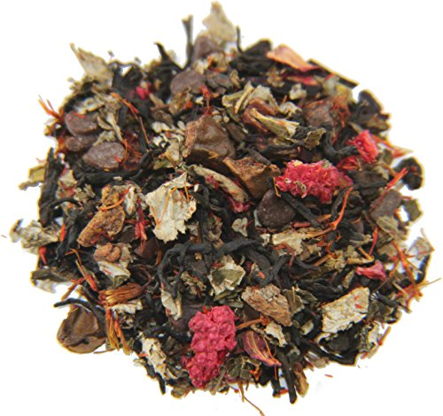 Tea Raspberry Chocolate - Nelson's Tea Raspberry Chocolate Truffle (loose leaf tea) (Pu'erh tea, Carob beans, Hibiscus, Raspberry leaf) 2 oz.