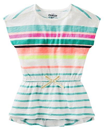 - Oshkosh Girls Multi-Stripe Tunic with Cinched Waist; Multicolored (6M)