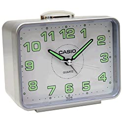Casio #TQ218-8 Table Top Travel Alarm Clock Gray