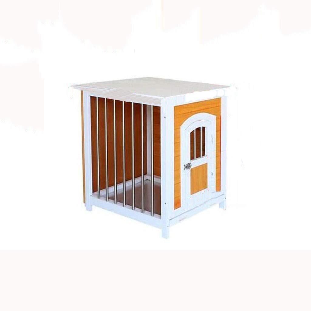 Lijin light Perrera Amarilla y Blanca Perrera Perro casa de Madera Maciza Perro pequeño Interior Que la casa de Perro Oso casa de Madera Cachorro Jaula ...