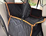 Pettom Waterproof Hammock Blanket Mat Pet Seat Cover Rear Back Bench Seat – Deluxe Non-Slip Backing with Seat Anchors Fits Cars Trucks SUV 57″ X54″