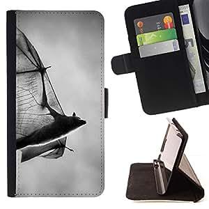 Momo Phone Case / Flip Funda de Cuero Case Cover - Halloween Noir Blanc Dracula - Samsung Galaxy S4 Mini i9190