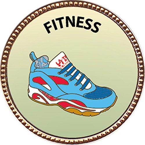Fitness Award, 1 inch dia Gold Pin 'Personal Skills Collection' by Keepsake Awards