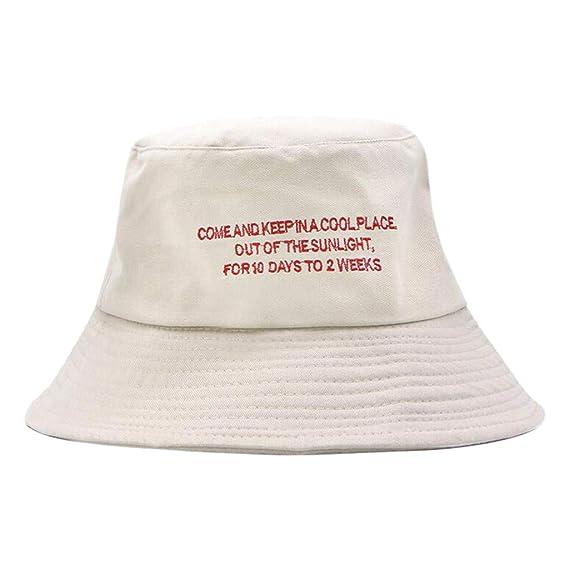 EUCoo Berretto da Donne Berretti da Viaggio Outdoor Stampa di Lettere  Cappello da Pescatore Visiera Pieghevole 8900a65757ad