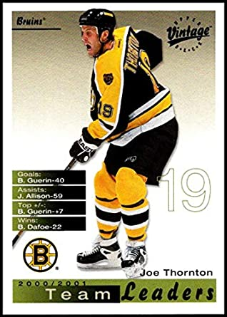 4a18ac88e43 2001-02 Upper Deck Vintage #25 Joe Thornton NM-MT Boston Bruins Official