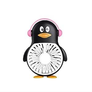 Ventilador de pingüino Mini Ventilador de Carga USB portátil de Mano Estudiante niño de Dibujos Animados pequeño Ventilador silencioso portátil b: Amazon.es: Electrónica