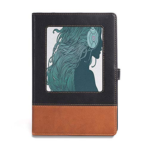 - Thick Notebook,Music Decor,A5(6.1
