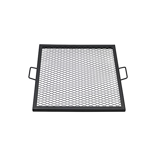 re Pit Cooking Grill Grate, Outdoor Square BBQ Campfire Grill, Camping Cookware, 30 Inch ()