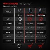 MICTUNING Laser LED Light Bar Rocker Switch ON-OFF LED Light 20A 12V, 5pin, Blue