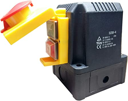Anbauschalter mit CEE Stecker 400V Phasenwender NOTAUS Klappe Baugleich KOA1Y