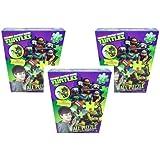 TMNT Ninja Turtle 72 pc Wall Puzzle x 3 Set