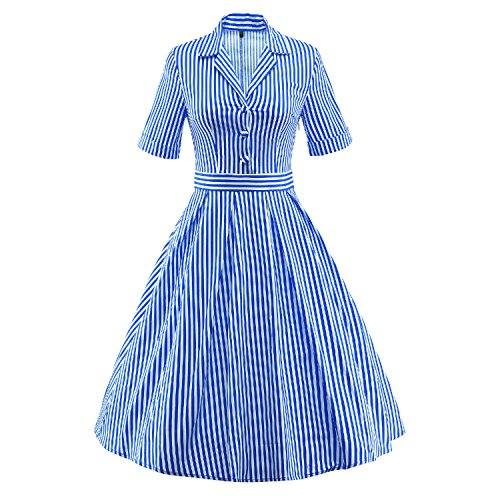 LUOUSE-Womens-Vintage-1950s-Candy-Stripe-Cocktail-Evening-Party-Dress