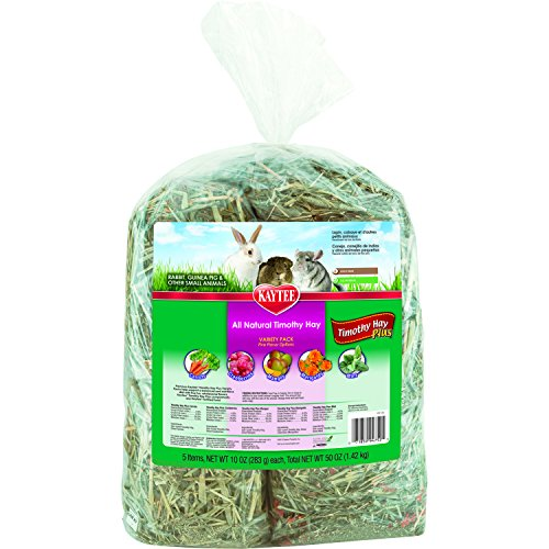 Kaytee Timothy Hay Plus Variety Pack, 50-oz