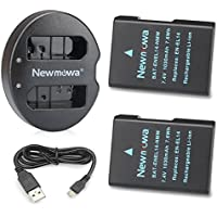 Newmowa EN-EL14 Battery (2 pack) and Dual USB Charger for Nikon EN-EL14, EN-EL14a and Nikon P7000, P7100, P7700, P7800, D3100, D3200, D3300, D5100, D5200, D5300, Df