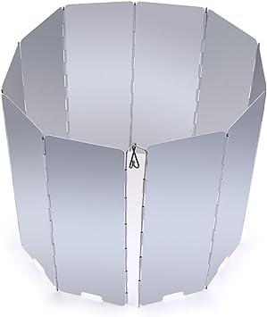 DDGE DMMS 10 placas de aleación de aluminio plegable al aire libre camping cocina cocina parabrisas parabrisas