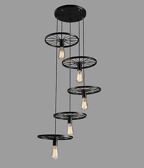 Lámpara de techo lámpara colgante vintage retro industriales ...
