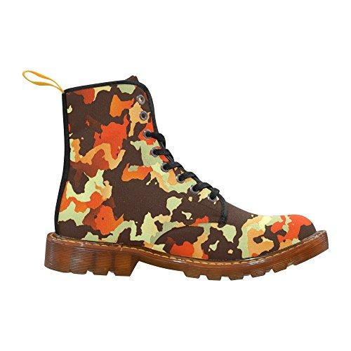 Leinterest Modern Kamouflage Stil Martin Stövlar Mode Skor För Män