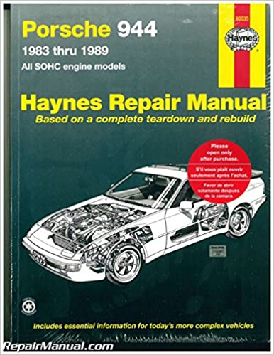 H80035 Haynes Porsche 944 1983-1989 Auto Repair Manual: Manufacturer: Amazon.com: Books