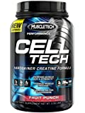 MuscleTech Cell Tech, Hardgainer Creatine Formula, Fruit Punch, 3.09 lbs (1.4kg)