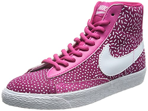 Blazer Nike Femmes Mid Print Salut Top Trainers 536698 Sneakers Chaussures Ireberry White Total Orange 603