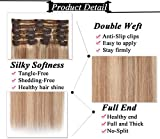 s-noilite Clip in Human Hair Extensions 100% Real