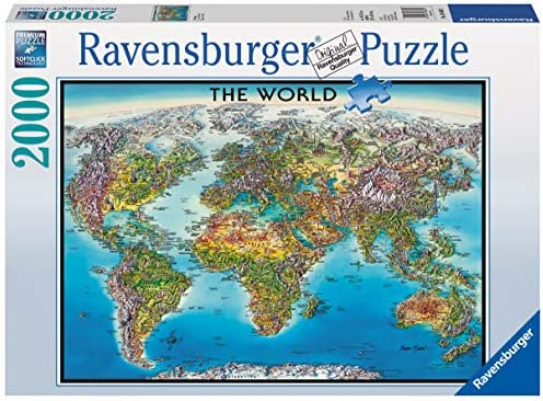 Ravensburger 16683 Puzzle World Map, Mehrfarbig, 38.5