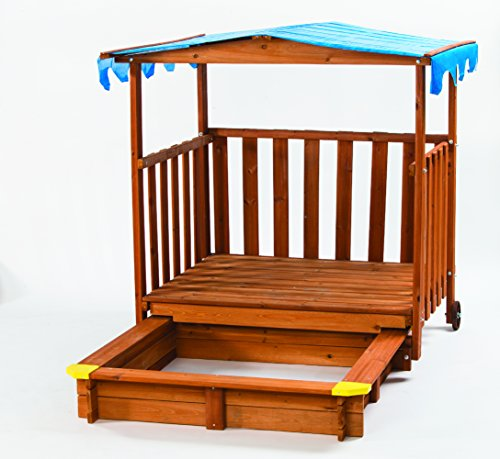 Wooden Outdoor Playhouse Kit (Sand N Shade Outdoor Playhouse & Sandbox)