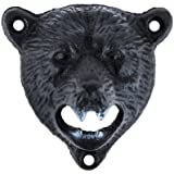 Wall Mounted Bear Cast Iron Bottle Opener by Foster and Rye