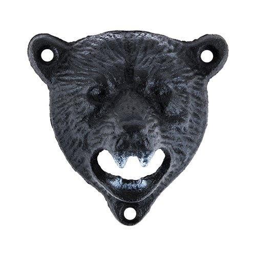 Funny Beer Bottle Opener, Cast Iron Wall Mounted Bear Cute Pocket Beer Opener (Sold by Case, Pack of 12)