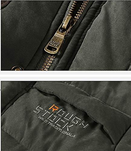 Multi Caldo Con tasca A Inverno In Cappotto Uomo Srj2018 Cotone Per Coste CappuccioImbottito Velluto fmb7IyvY6g