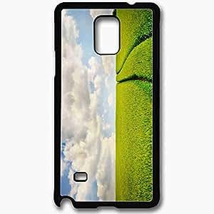Unique Design Fashion Protective Back Cover For Samsung Galaxy Note 4 Case Green Nature Scenery Nature Black
