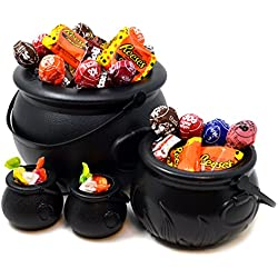 Cauldron with Handle, Pack of 4