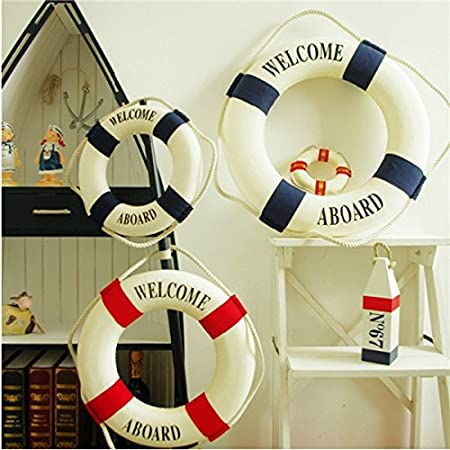Lifebuoy Wall hanging Beach Craft Nautical Ornament Decorative Life Ring