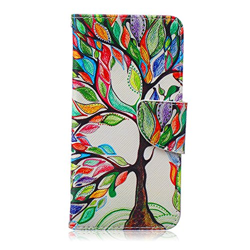 Nexus 5X Case,JanCalm [Kickstand] New Pattern Premium PU Leather Wallet [Card/Cash Slots] Protective Flip Case Cover for LG Google Nexus 5X (5.2-Inch) Including-ONE Crystal Pen (Beautiful Tree)