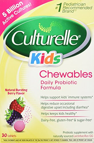 Culturelle Kids Chewables, Natural Bursting Berry Flavor