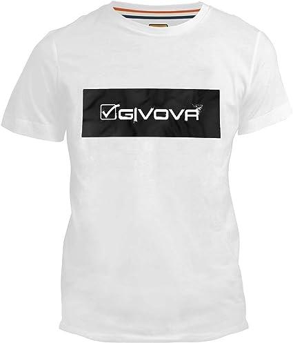 Givova – Camiseta de Manga Corta Blanca 100% algodón con impresión Frontal con Texto Givova – Deporte Correr Gimnasio Fitness Running Footing Jogging Bianco L: Amazon.es: Ropa y accesorios
